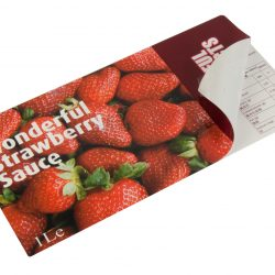 Strawberry Sauce Peel and Reveal Label