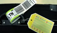 luggage tags attached