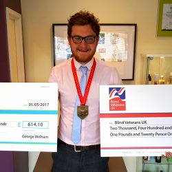 George Completes the 2017 London Marathon –  raising £3,055 for Charity!