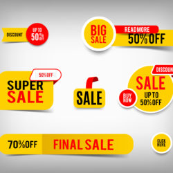 sale stickers for a business